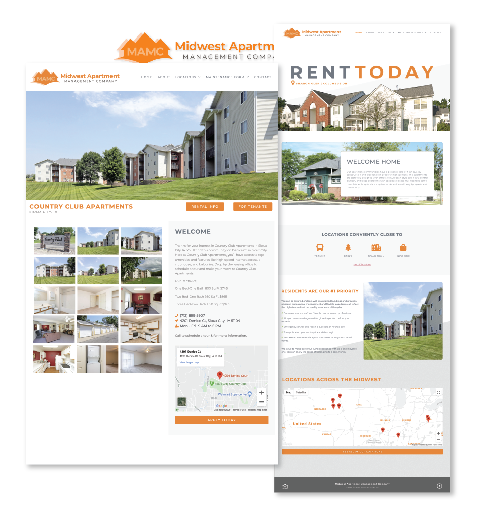 Midwest-Apartments.com Website and Apartment Page